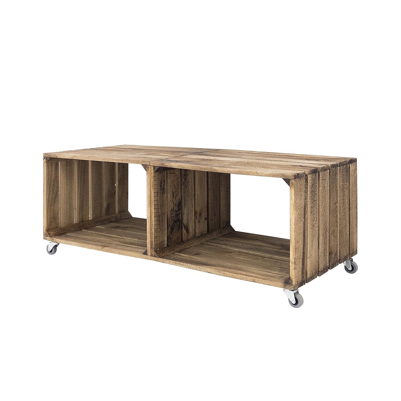 Decowood dcw02 Table Canapé 98x37x44 cm marron