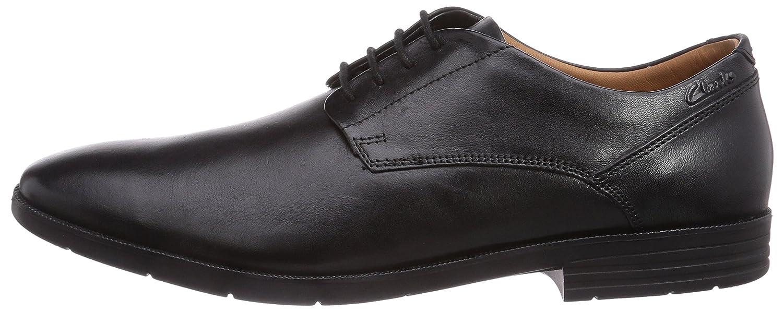 Clarks Glenrise Walk, Herren (schwarz Derby Schnürhalbschuhe Schwarz (schwarz Herren Leder) febe80