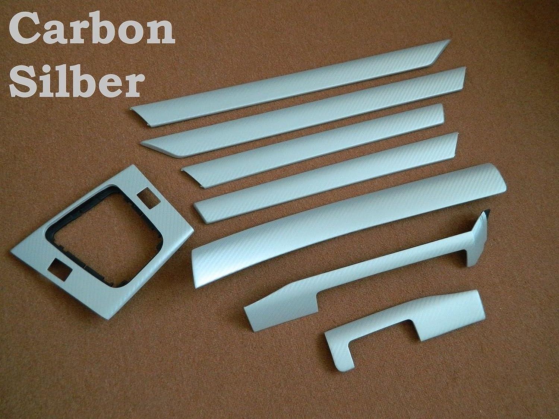 Dekorleisten Interieurleisten Carbon Struktur Folien Silber passend fü r E46 Carbonveredelung