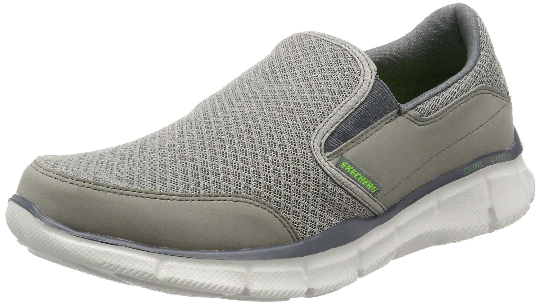 Skechers Men's Equalizer Persistent Slip-On Sneaker, Gray, 9.5 M US