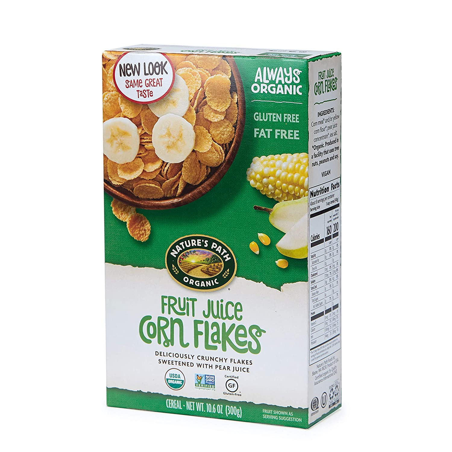 Nature's Path Fruit Juice Corn Flakes Cereal, Healthy, Organic, Gluten-Free, 10.6 Ounce Box