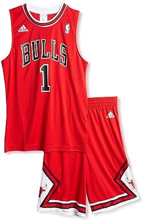 adidas Kids Chicago Bulls Derrick Rose  1 Jersey Shirt Shorts Set Red In  Box ( d57e6e4cf