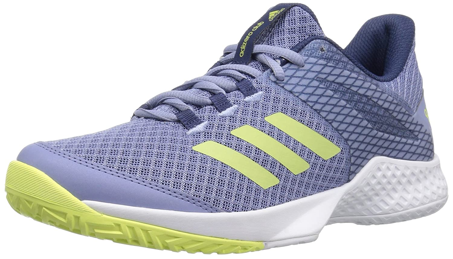 adidas Women's Adizero Club w Tennis Shoe B0719JYPJ9 5 B(M) US|Chalk Blue/Semi Frozen Yellow/Noble Indigo