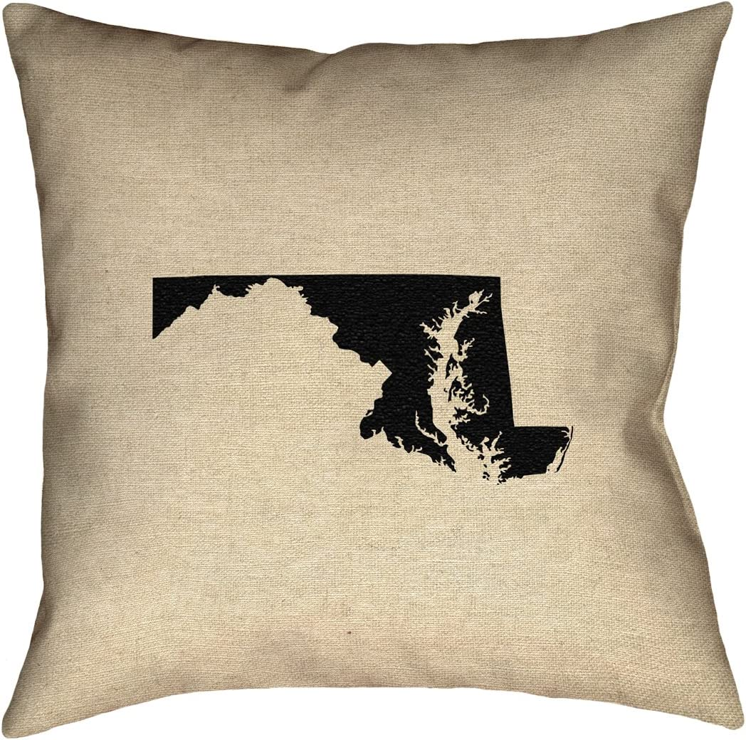 ArtVerse Katelyn Smith 20 x 20 Poly Twill Double Sided Print with Concealed Zipper /& Insert Maryland Pillow