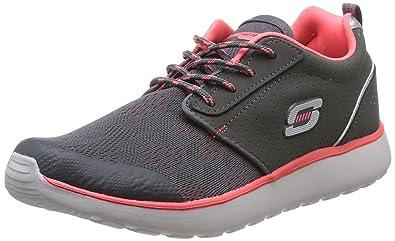 Counterpart Front Line, Chaussures de sports en salle femme - Gris (Cchp), 41 EU (8 UK) (11 US)Skechers