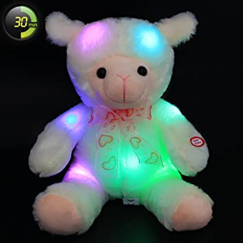 Wewill brand easter gift soft toy cuddly baby lamb glow with led wewill brand easter gift soft toy cuddly baby lamb glow with led 30 minutes timer negle Gallery