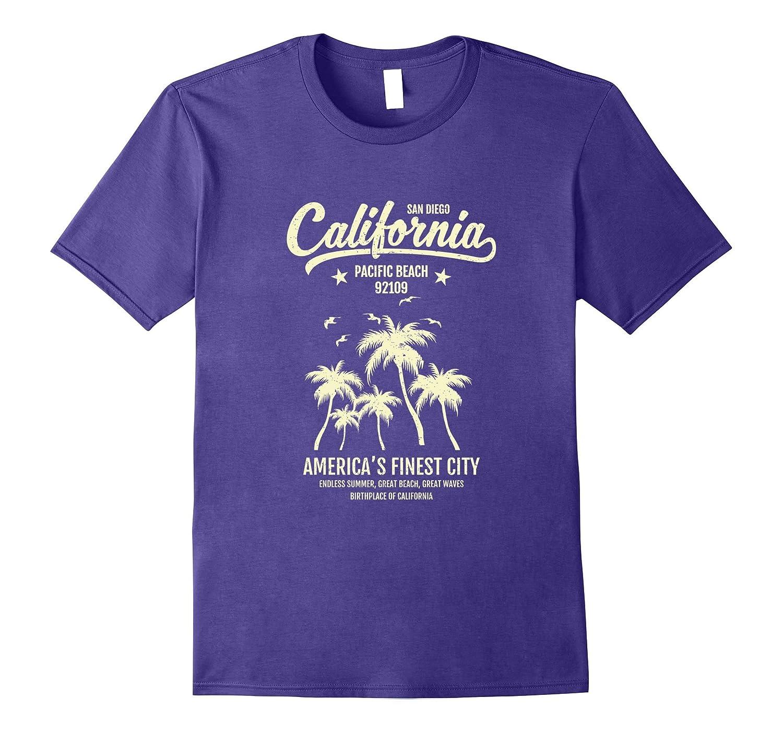 San Diego CA California Pacific Beach 92109 T-Shirt Tee-Vaci