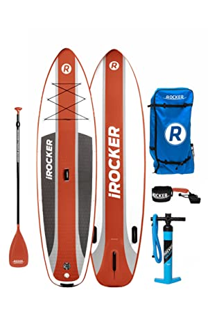 Paquete SUP de tabla de surf de remo hinchable iROCKER CRUISER, 106 largo