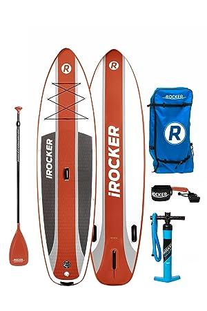 Paquete SUP de tabla de surf de remo hinchable iROCKER CRUISER, 106 largo