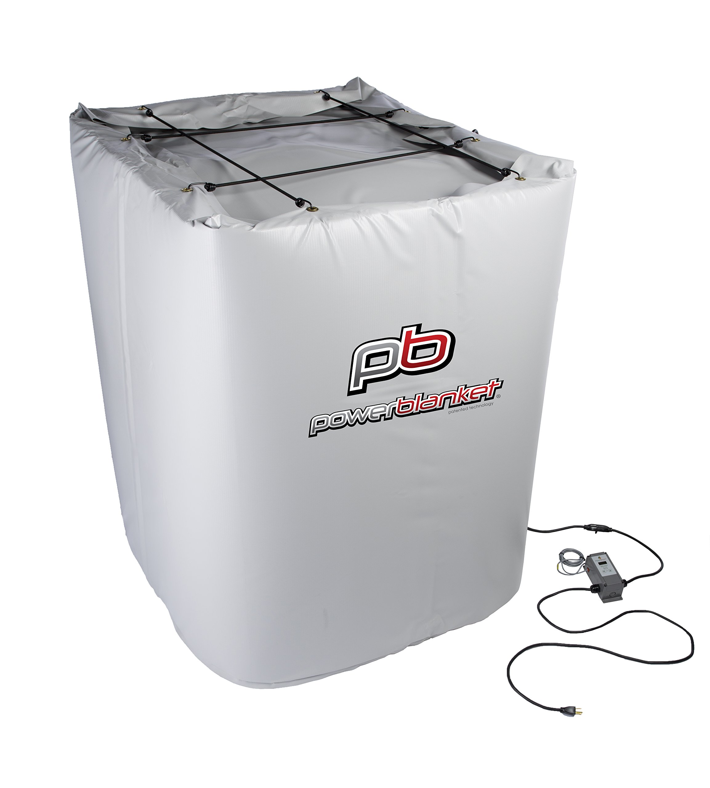 Powerblanket Xtreme TH275G Insulated IBC Storage Tote Heater with Adjustable Thermostat Controller, Rated down to -40 °F, Fits 275 Gallon IBC Tote's