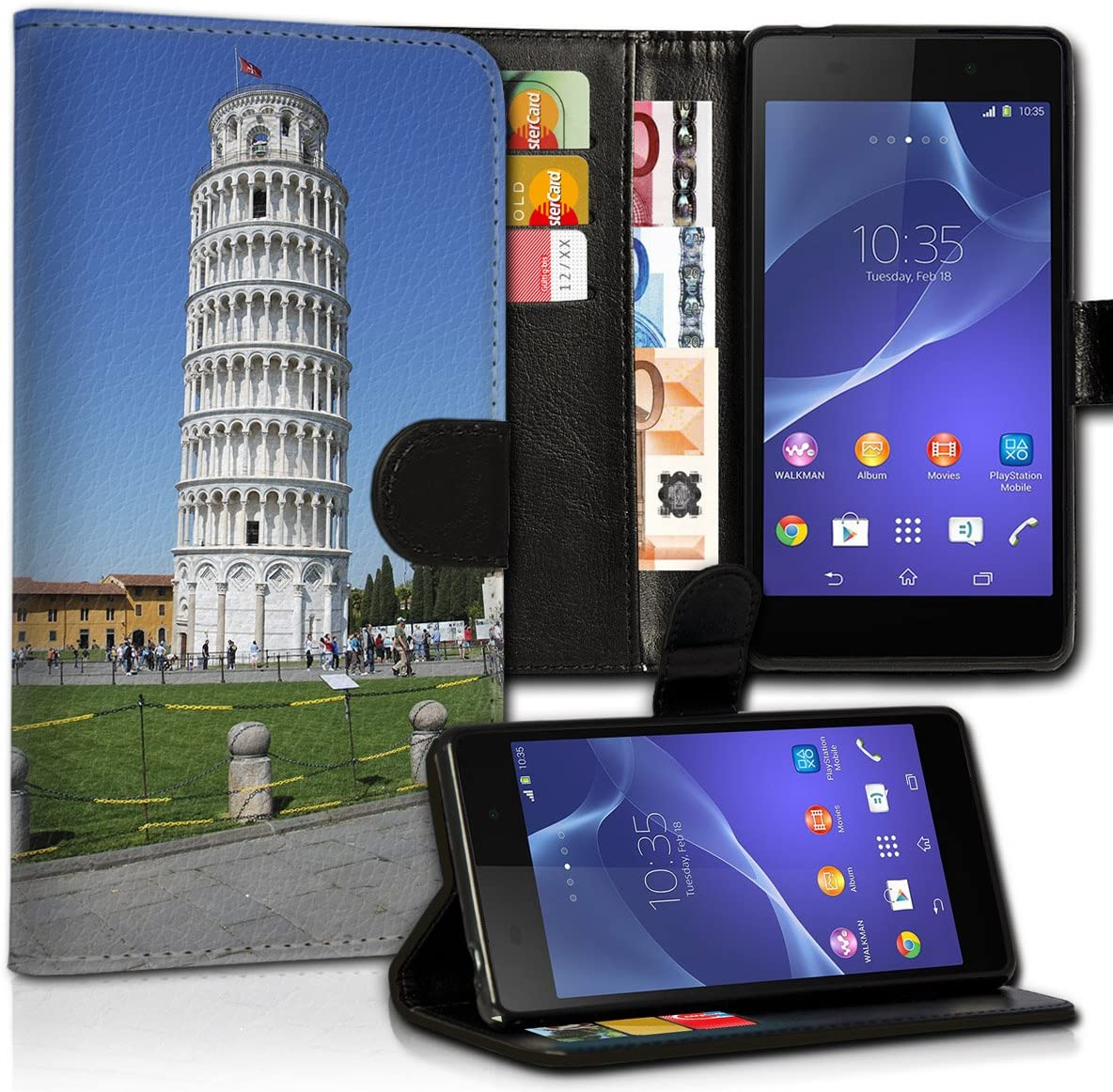 wicostar Portatil Style Sony Xperia E5 Premium de PU Piel Flip ...