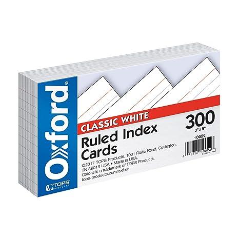 Amazon.com: Oxford, fichas hojas con renglones, Blanco ...