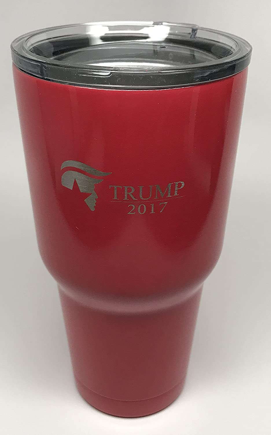 just like the Trump Coins Aizics RED Donald Trump 30oz Tumbler with plastic lid and metal straw Collector item from 2017 Inauguration