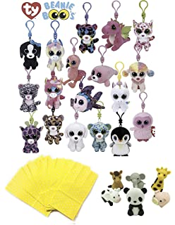 3243b571e5b Girls Stuffed Animals Beanie Boos Bundle Set of Assorted 6 Clips Keychains  Plush Toys Party Favors