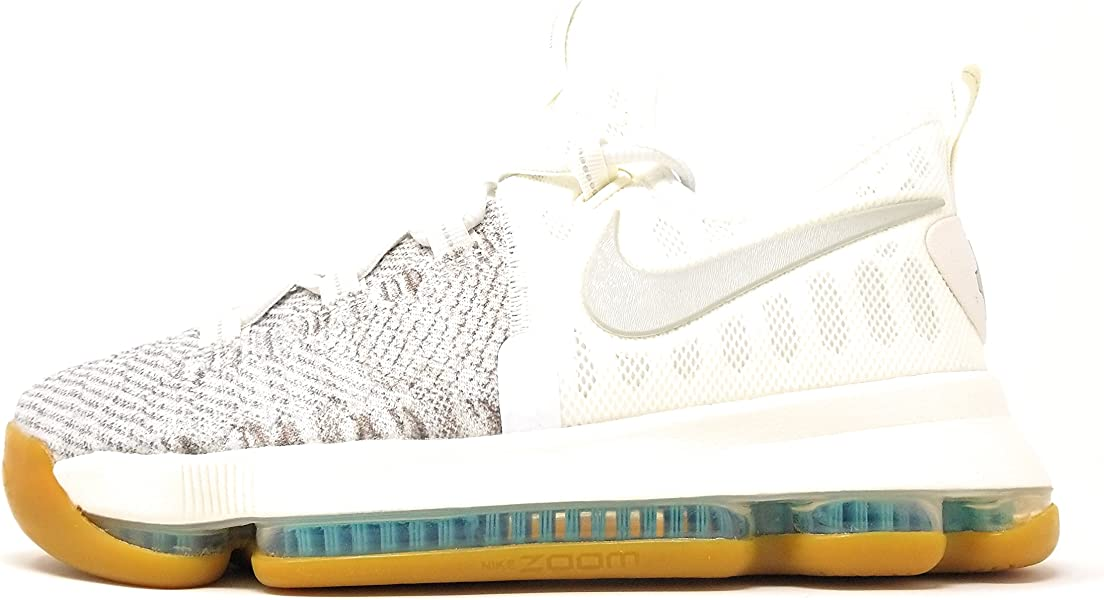 quality design f7559 f1c98 Boys Zoom KD9 Big Kid Textured Basketball Shoes Pale Grey Ivory Pale Grey  7Y M US