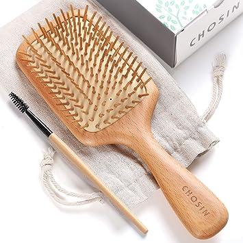 Hair Brush Chosin Wooden Detangling Brushes Natural Detangler Paddle Hairbrush For Women Men