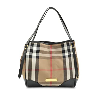 Burberry Small Bridle House Check Tote - Black