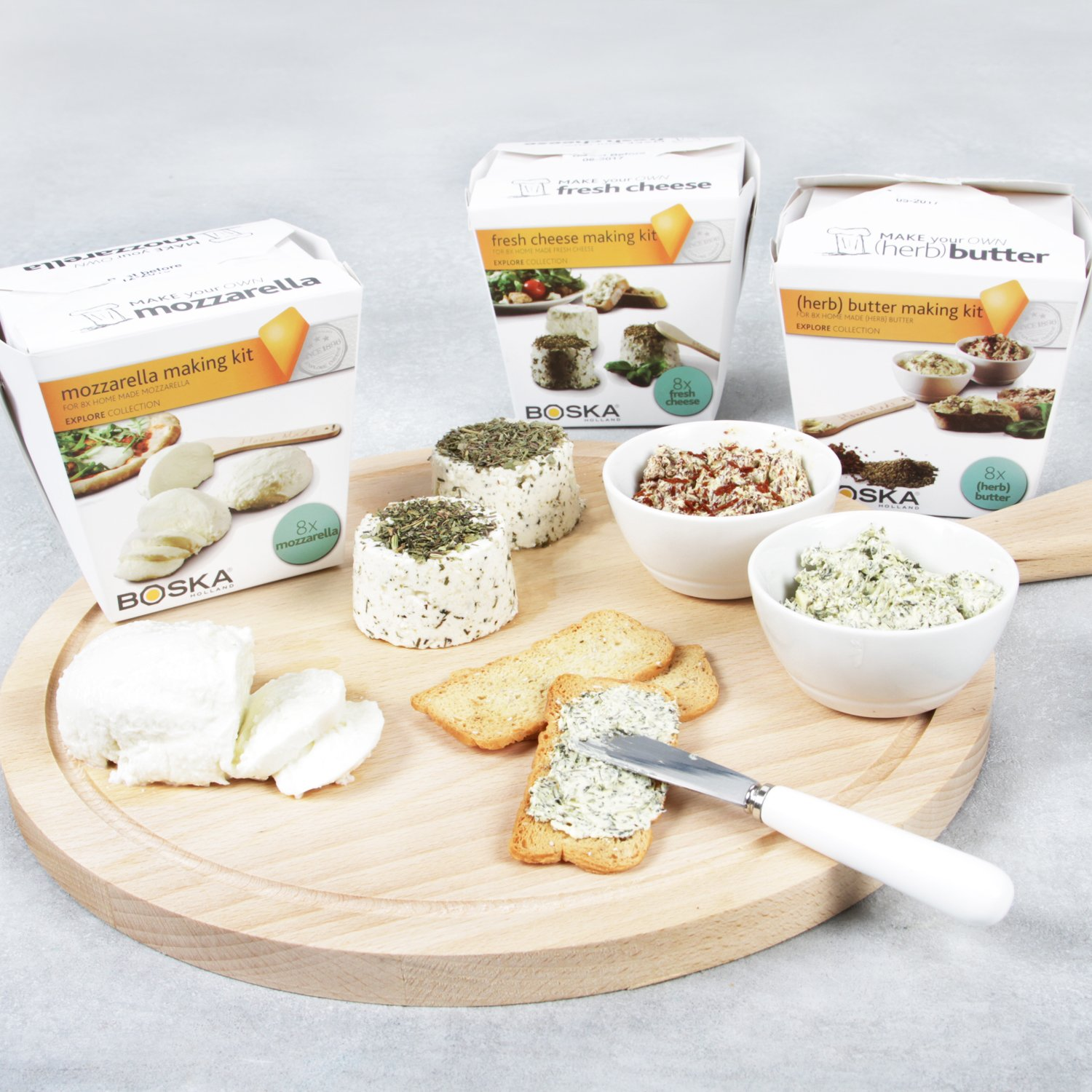 Boska Holland Mozzarella Cheese Making Kit, Homemade Set, Makes up to 8 Batches, Explore Collection by Boska Holland (Image #5)