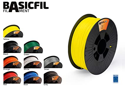 BASICFIL PLA 1.75mm, 1 kg filamento de impresión 3D, Amarillo ...