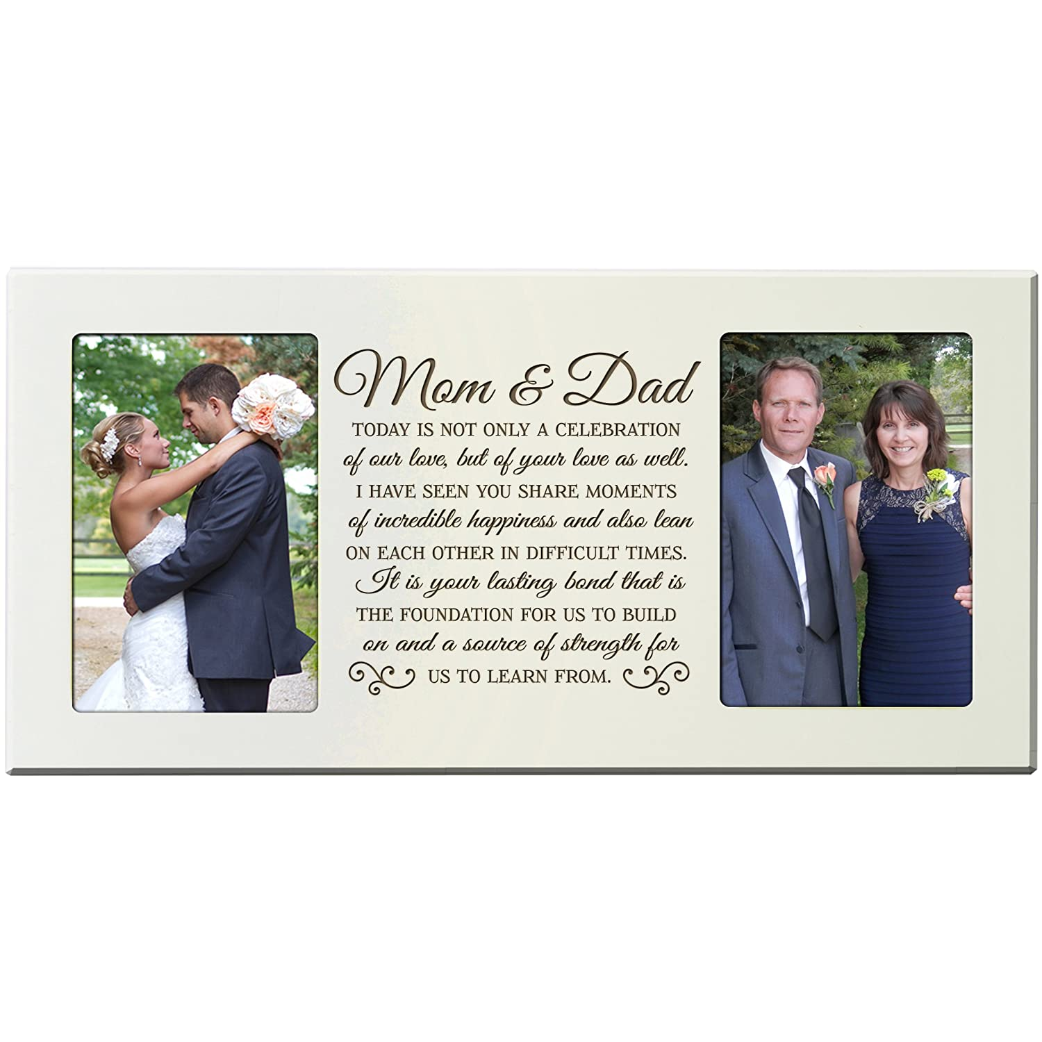 Amazon.com - LifeSong Milestones Parent Wedding Gift Picture Frame ...