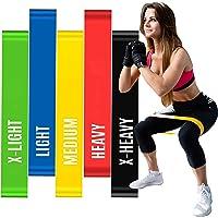 Kit 5 Faixas Elásticas Elásticos Alongamento Pilates Yoga Exercícios Condicionamento Físico Yoga Saúde Relaxamento…