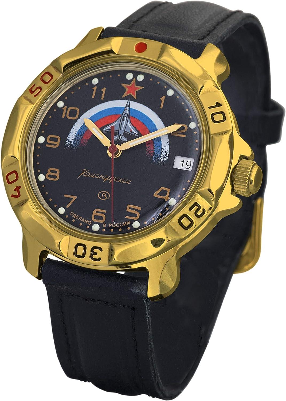 Vostok Komandirskie Classic Military Russian Aviator Air Force Commander Golden Color Watch 2414 819608