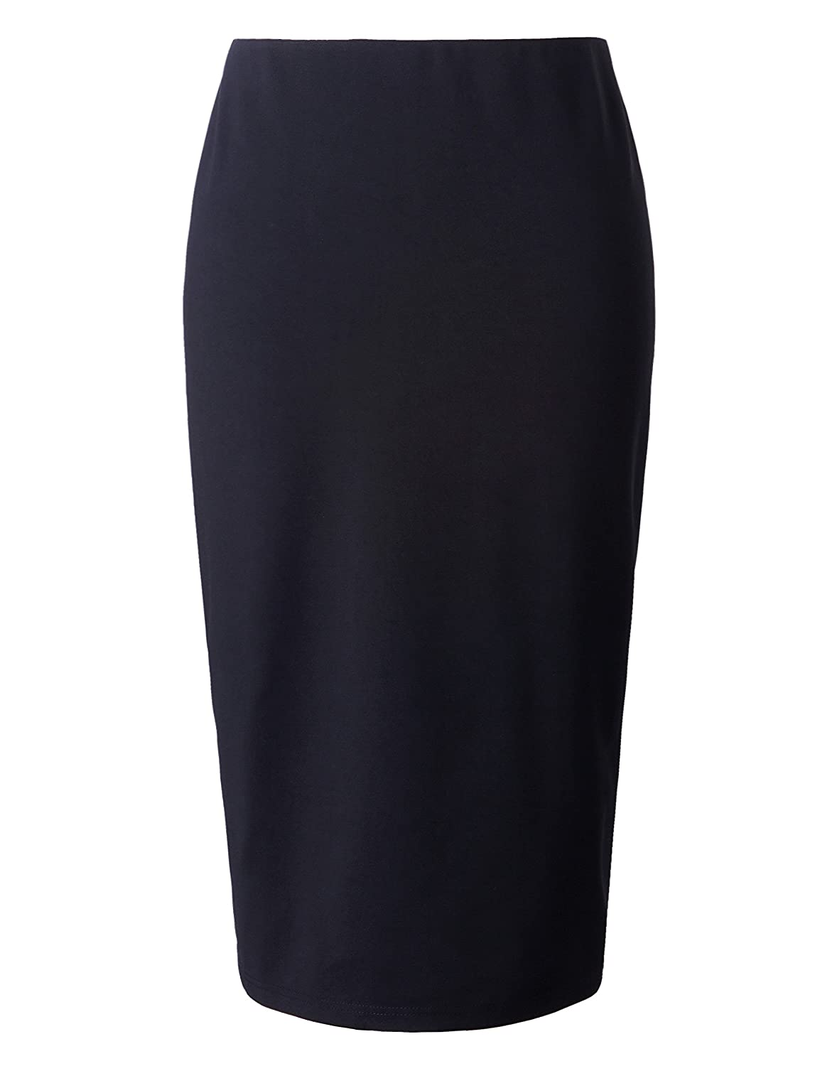 Chicwe Women's Plus Size Stretch Long Tailored Calf Length Pencil Skirt C17C201