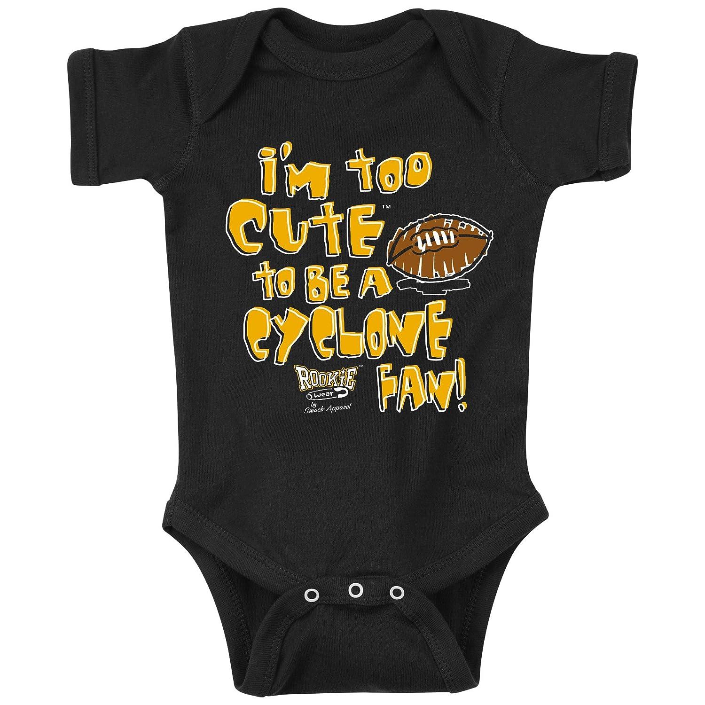 Smack Apparel Iowa Hawkeyes Fans. I'm Too Cute. Onesie (NB-18M) or Toddler Tee (2T-4T)