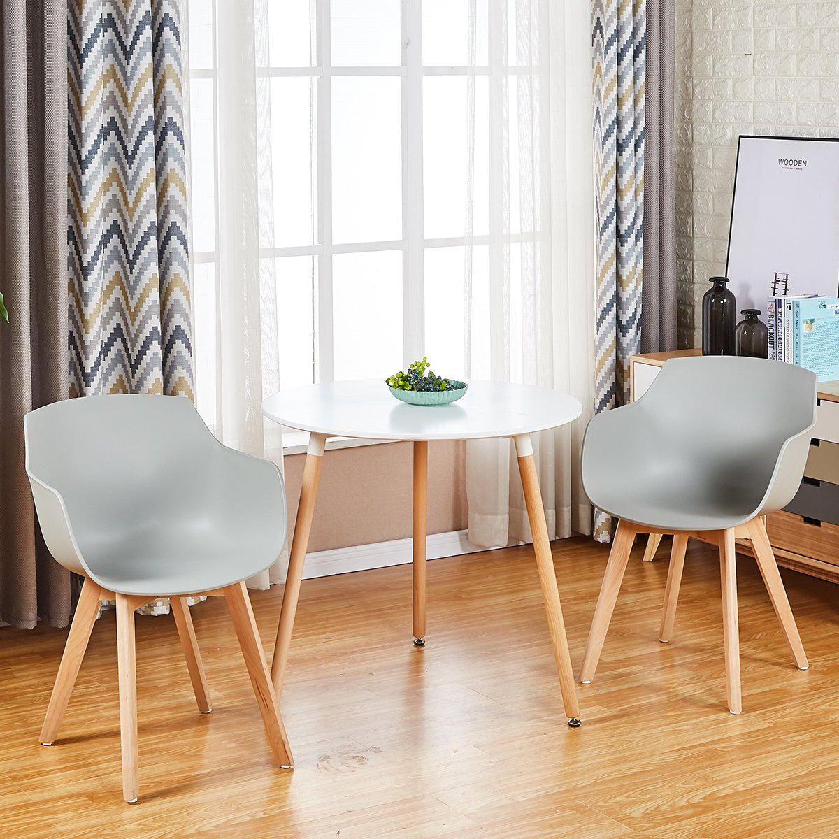 2/4/6 Sedie da Poltrona Moderno Design Sedie Cucina Scandinavo in Legno Faggio  eBay