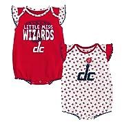 NBA Newborn & Infant  Heart Fan  2 Piece Onesie Washington Wizards-Red-3-6 Months