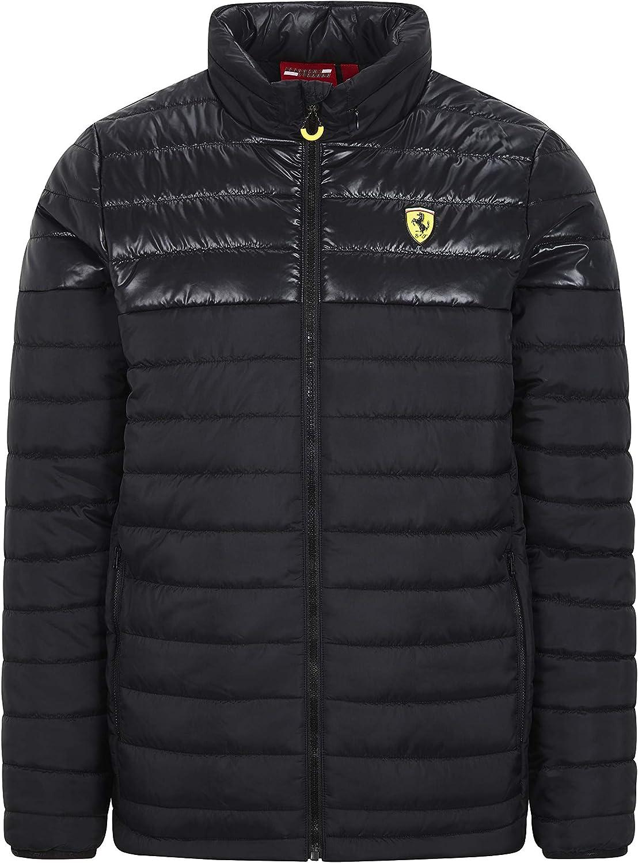 Ferrari Scuderia F1 Mens Padded Jacket Black//Red M, Black