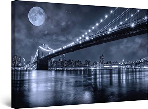 Startonight Wall Art Canvas Brooklyn Bridge