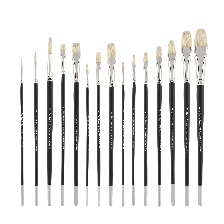 Creative Mark Pro Stroke Premium Artist White ChungKing Hog Bristle Paint Brush - Bright [5 Piece Value Set] 4336955824