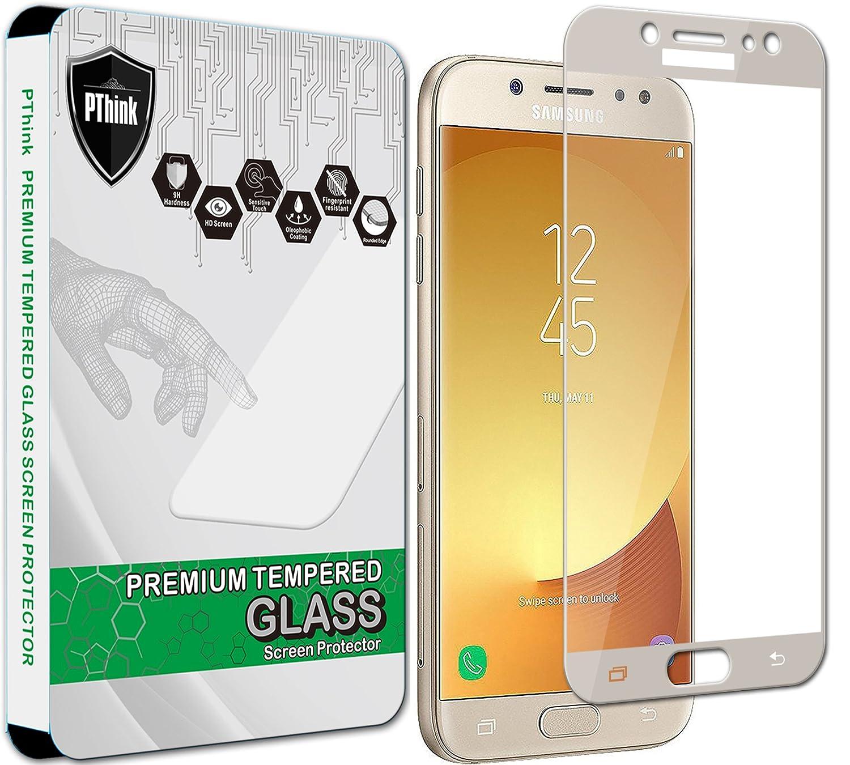 PThink - Pellicola protettiva, in vetro temprato, per schermo di Samsung Galaxy J5 Pro J530G (2017) (copertura intera dello schermo)