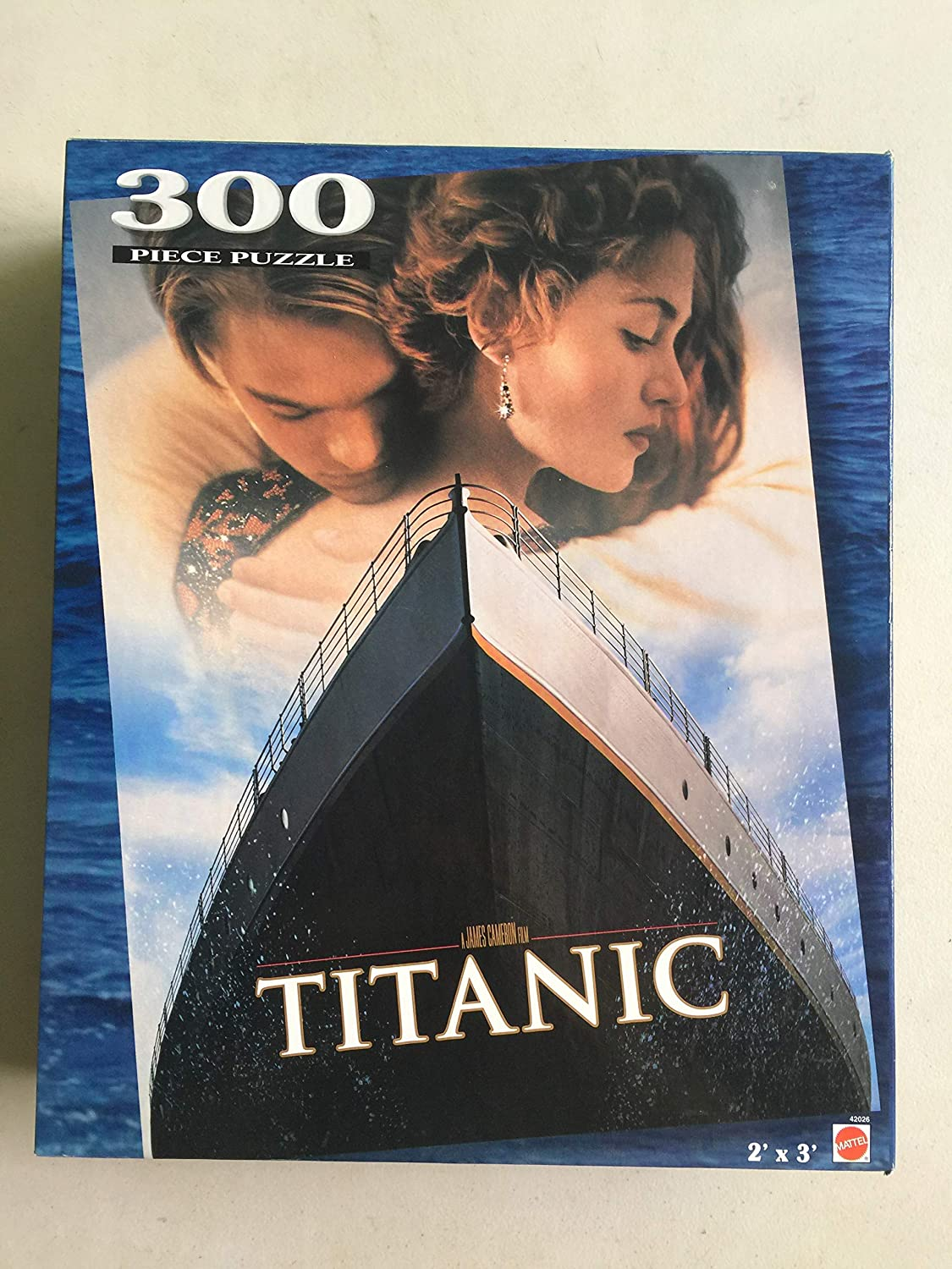 Amazon Com Movie Poster Titanic 300 Piece Jigsaw Puzzle 2 X 3 Toys Games