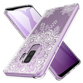 LK Funda para Samsung Galaxy S9 Plus, Carcasa Cubierta TPU Silicona Goma Suave Case Cover Ultra Fino Anti-Arañazos - Flor