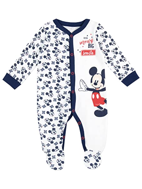 27f7b6891d Disney Mickey Mouse - Pijama Entera para Niños Bebés - Mickey Mouse - 9 a  12 Meses  Amazon.es  Ropa y accesorios
