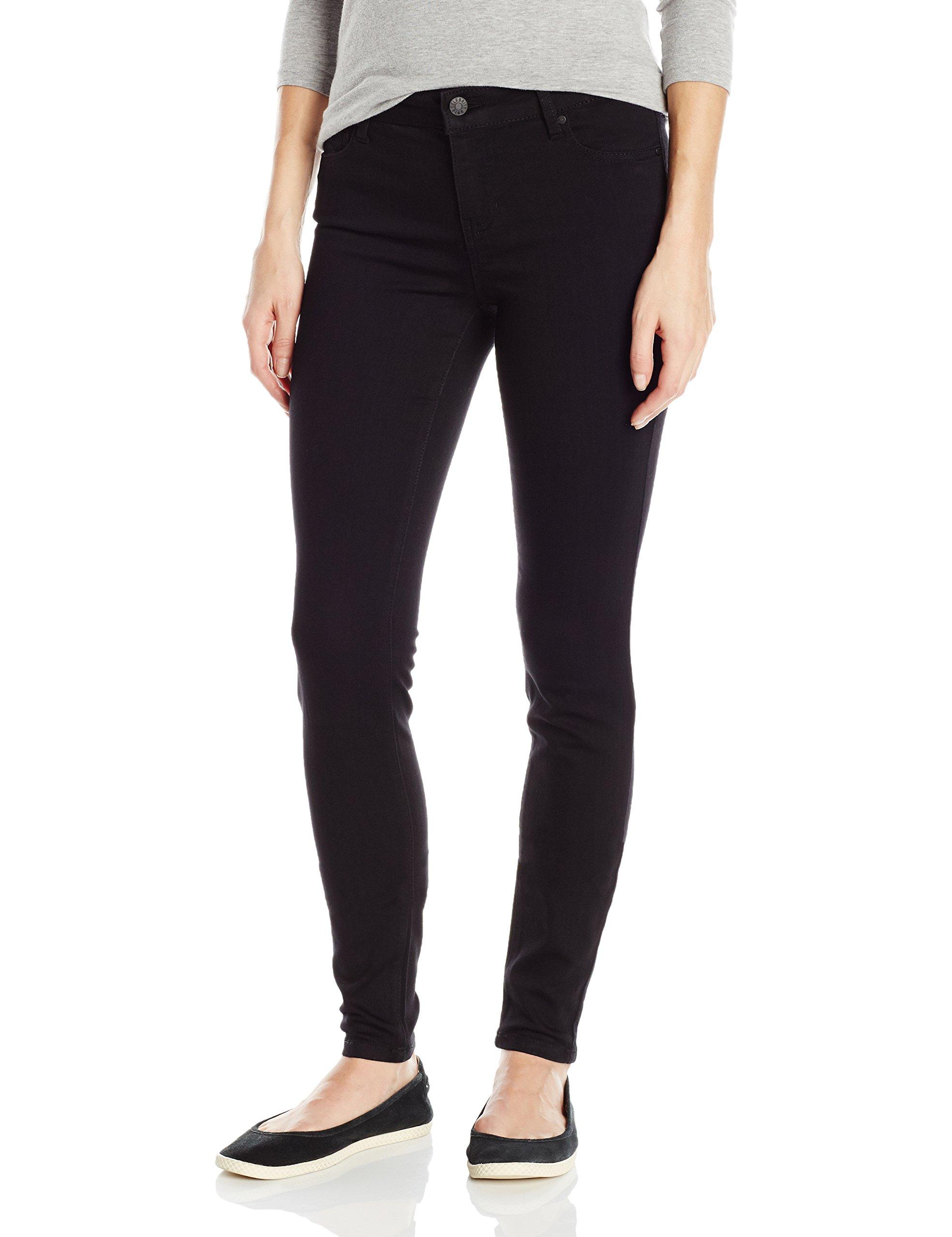 Celebrity Pink Jeans Women's Infinite Stretch Mid Rise Skinny Jean, Black Rinse, 13