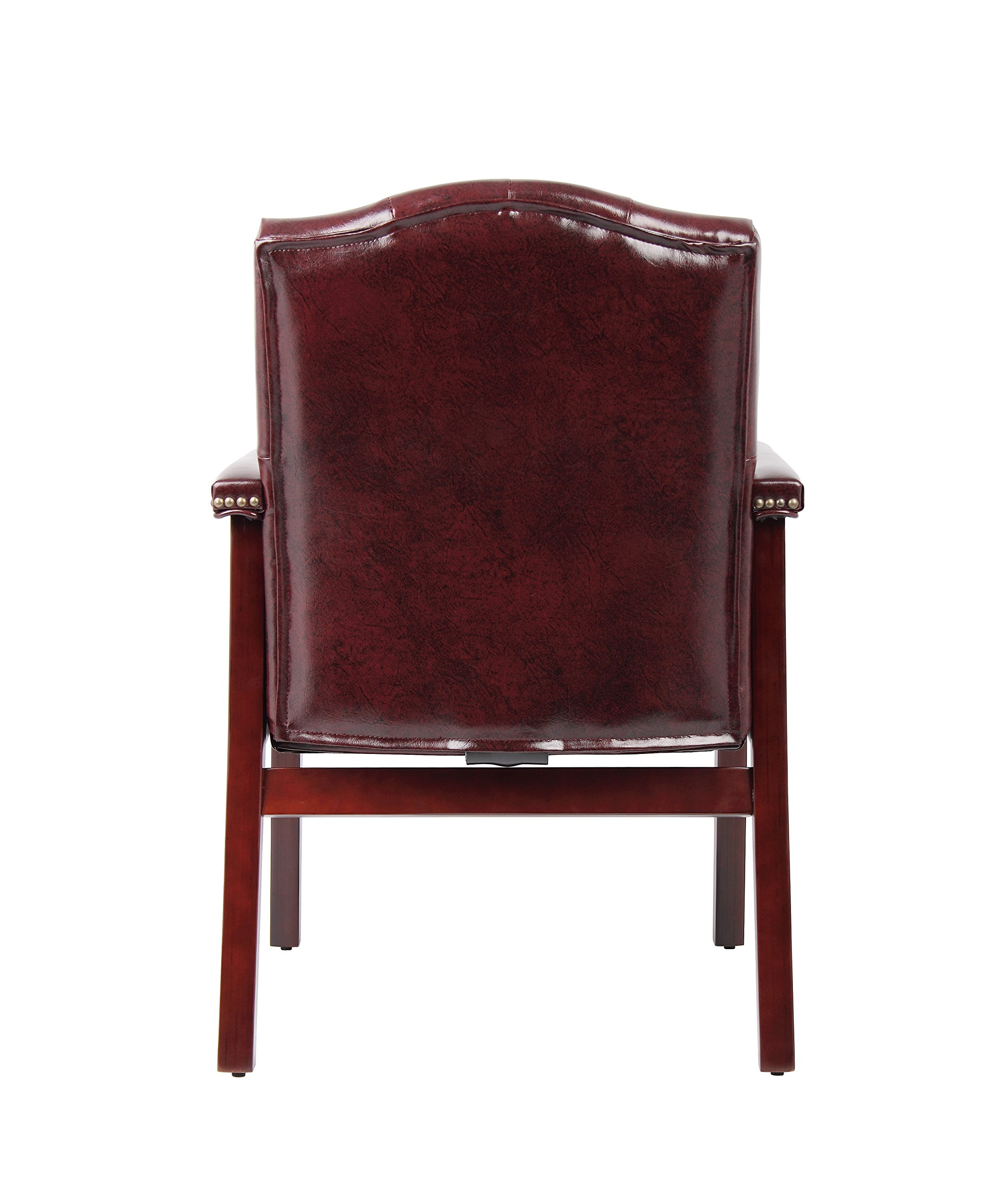 Boss Office Products B959-BY Ivy League Executive Guest Chair in Burgundy by Boss Office Products (Image #2)