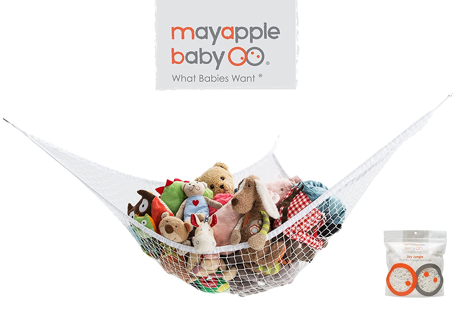 Amazon.com : Mayapple Baby | Stuffed Animal Toy Hammock | Premium Plush Toy  Hanging Organizer | SKY JUNGLE | Jumbo Extra Large Storage Mesh Pet Net ...