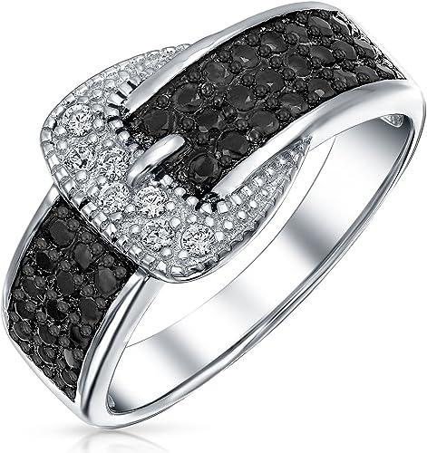 Pave Diamond 925 Sterling Silver Designer Ring Women/'S Fashion Jewelry