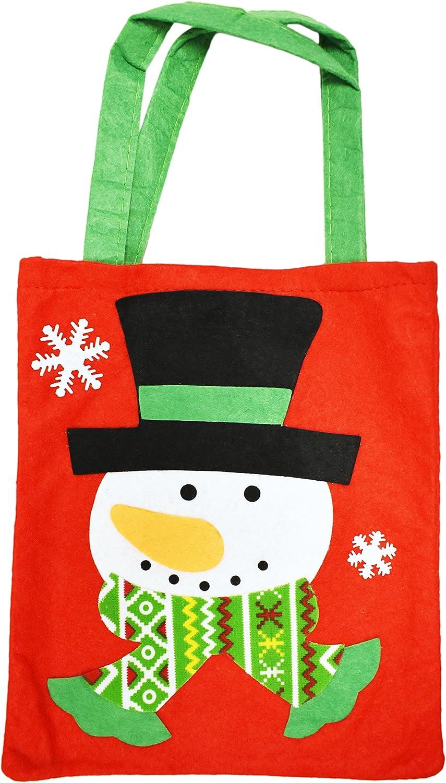 "Holiday Time Black//White//Red Penquin Drawstring Felt Hat Christmas Bag 8/""x10/"""