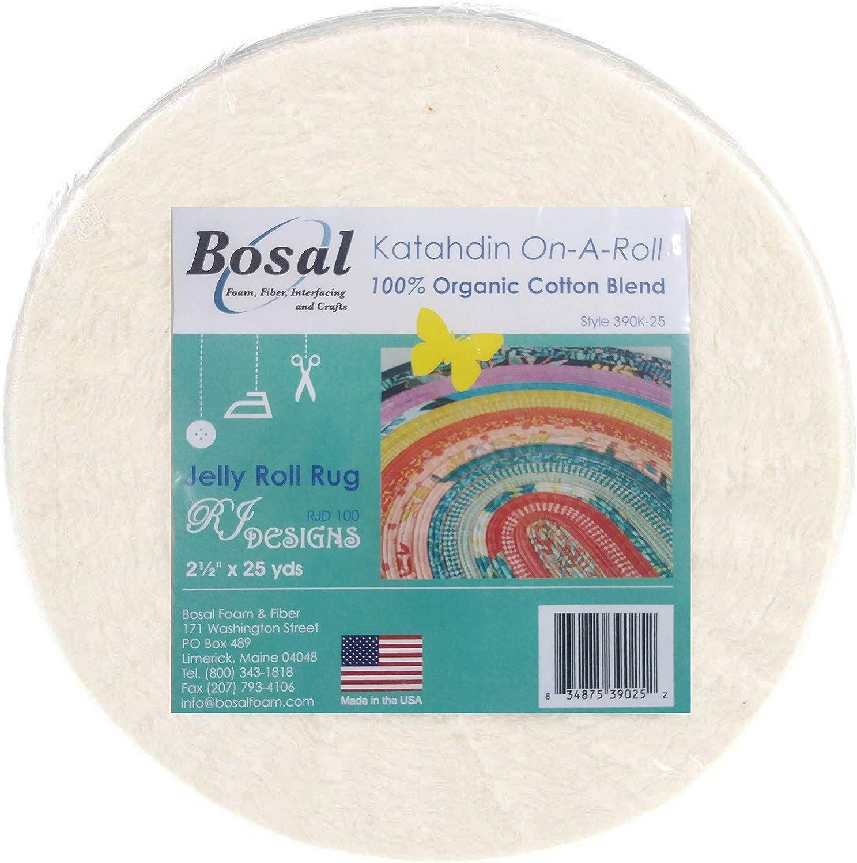 390K-25 Katahdin On-A-Roll 100/% Organic Cotton Batting-White 2.5 X25yd