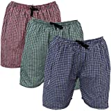 BMK Checkered Cotton Mix Boxer Shorts_Multicolored Pack of 3