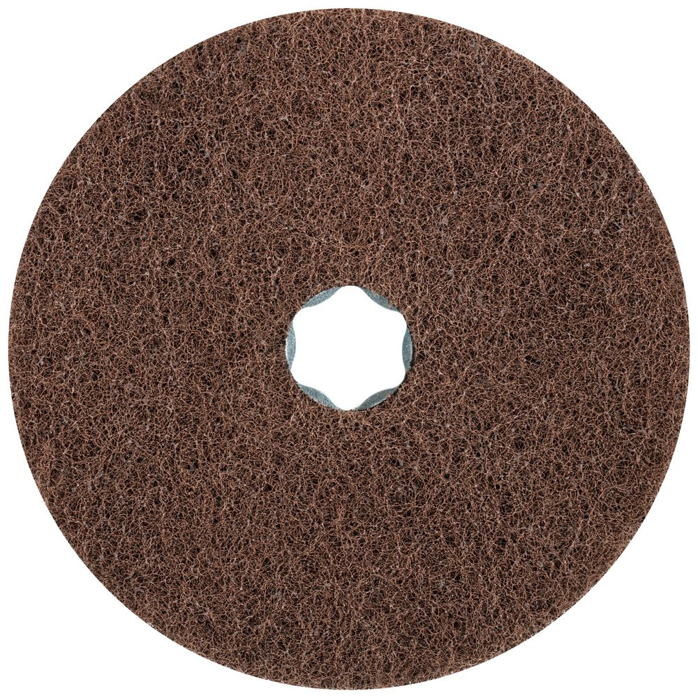 PFERD 48136 Combiclick Non-Woven Disc, Soft Type, 5'' Diameter, 9,650 RPM, Fine Grit (Pack of 10)