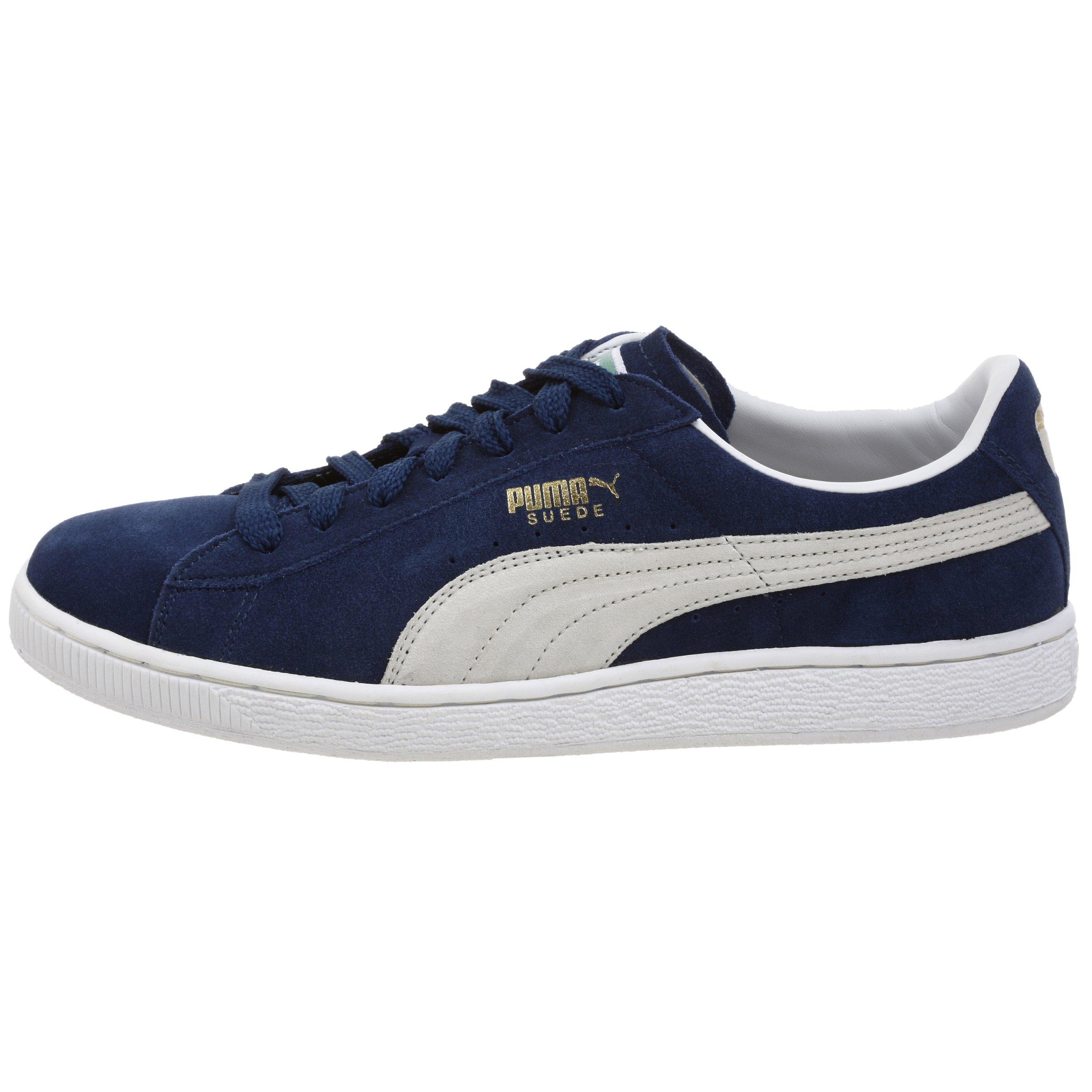PUMA Suede Classic Sneaker,Blue/White,8 M US Men's by PUMA (Image #5)