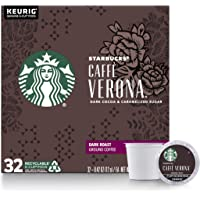 Starbucks Dark Roast K-Cup Coffee Pods - Caffè Verona for Keurig Brewers - 1 Box (32 Pods)