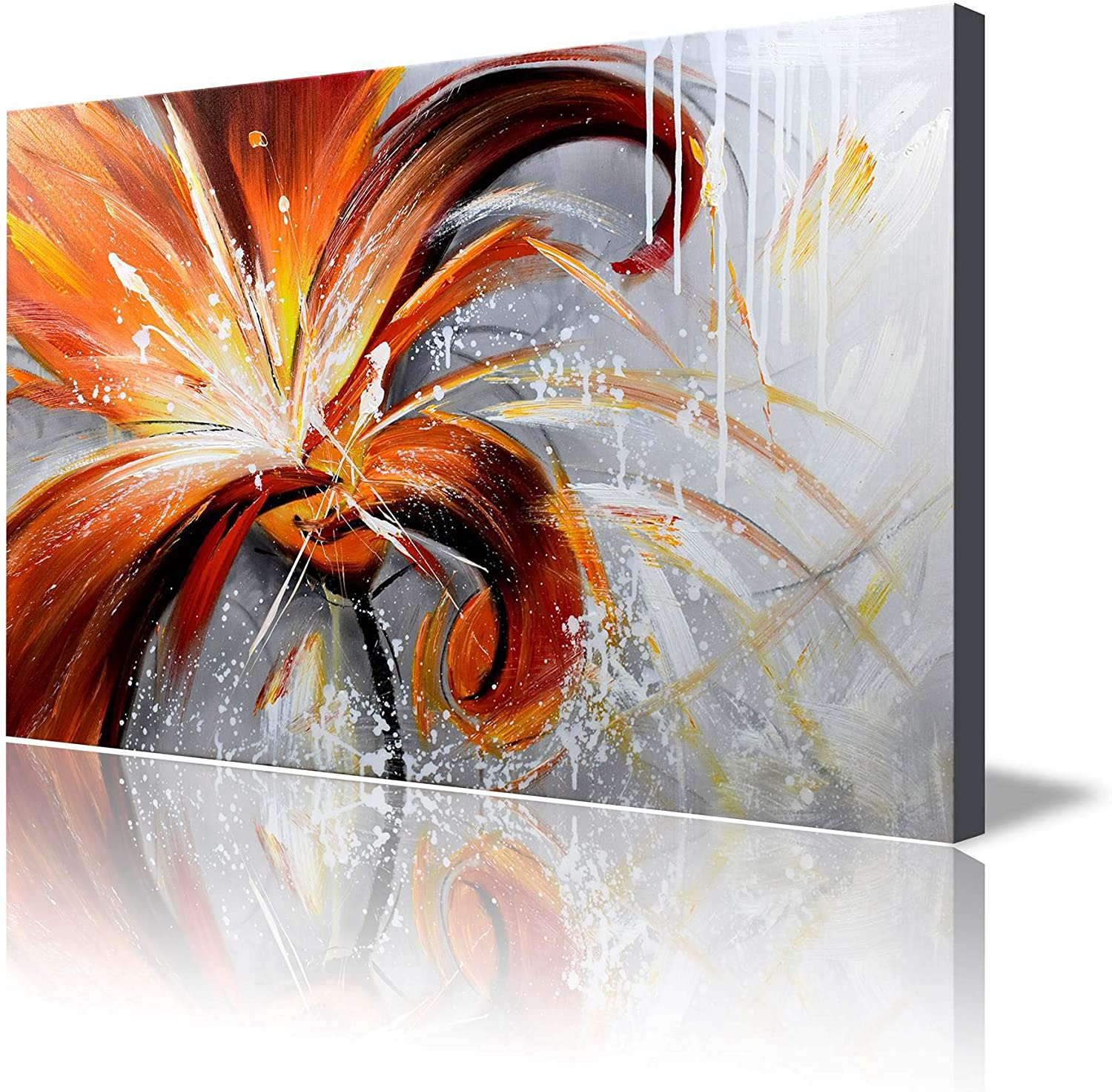 Amazon Com Artland 24x36 Inch Fall Story Gallery Wrapped Hand Painted Canvas Flower Wall Art Paintings
