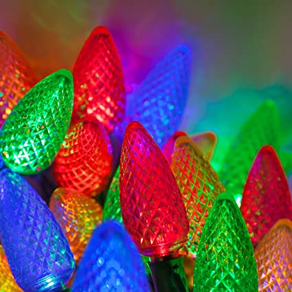 Led Christmas Lights Color.C9 Multicolor Christmas Lights Set Of 25 17 Ft Multi Colored Christmas Lights Outdoor C9 Led Christmas Lights Multicolor C9 Christmas Lights Party