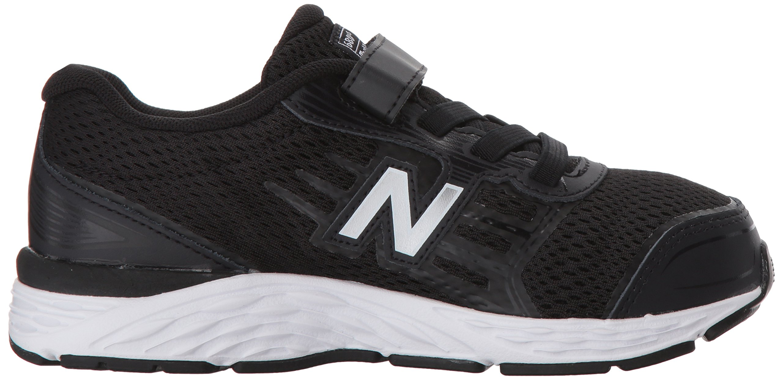 New Balance Boys' 680v5 Hook and Loop Running Shoe, Black/White, 9 M US Toddler by New Balance (Image #6)